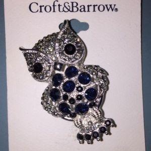 Croft & Barrow Owl Pin Brooch